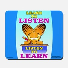Learn to Listen Garfield Mousepad