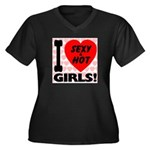 I Love Sexy & Hot Girls Women's Plus Size V-Neck D