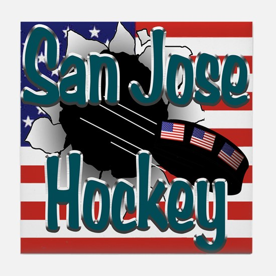 San Jose Hockey Tile Coaster