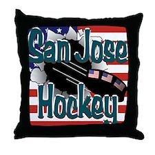 San Jose Hockey Throw Pillow