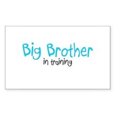 Big Brother in Training Rectangle Decal