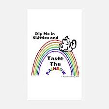 Taste The Rainbow Rectangle Decal