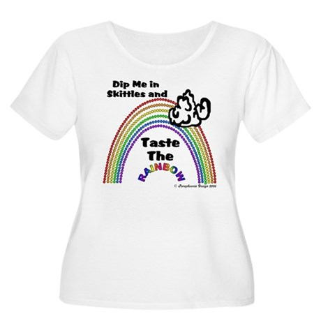Taste The Rainbow Women's Plus Size Scoop Neck T-S