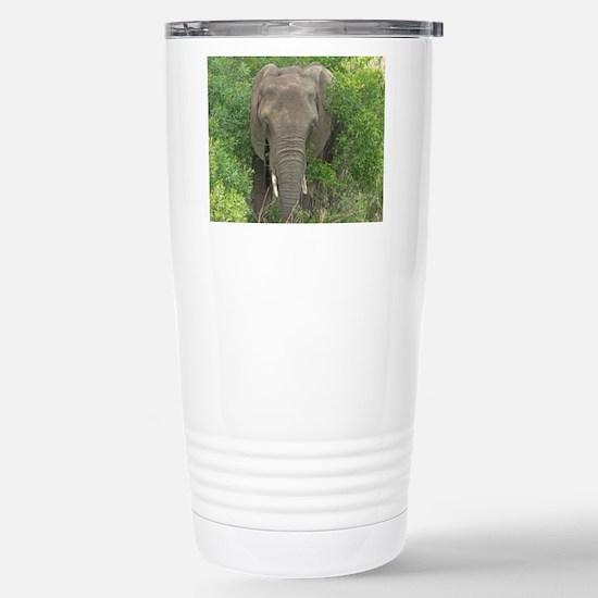 Elephant in Bush Stainless Steel Travel Mug