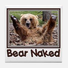 Bear Naked Tile Coaster