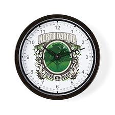 Tree Hugger North Dakota Wall Clock