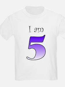 I am 5 (purple) T-Shirt