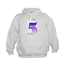 I am 5 (purple) Hoodie