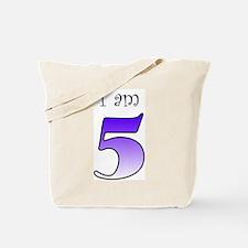 I am 5 (purple) Tote Bag