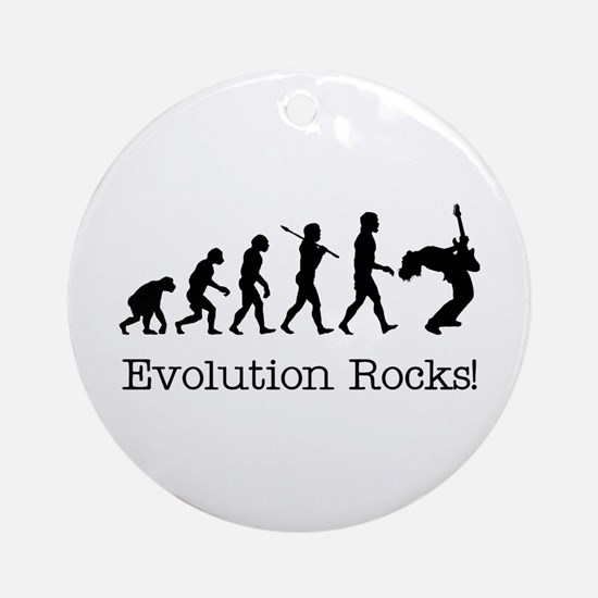 Evolution Rocks Ornament (Round)