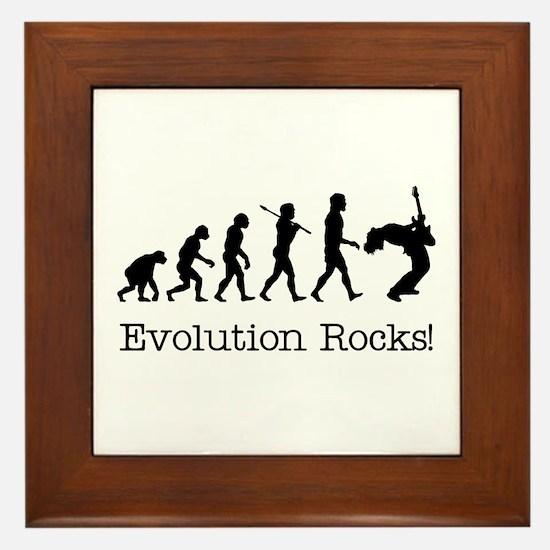 Evolution Rocks Framed Tile