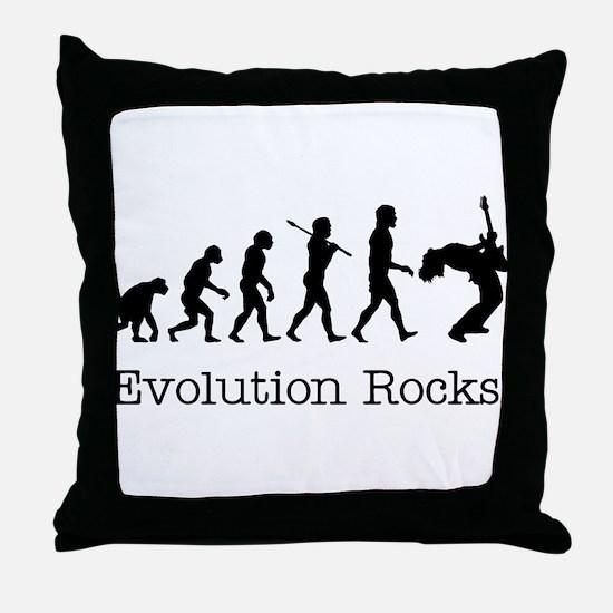 Evolution Rocks Throw Pillow