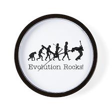 Evolution Rocks Wall Clock