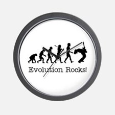 Evolution Rocks Wall Clock