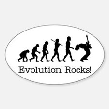 Evolution Rocks Oval Decal