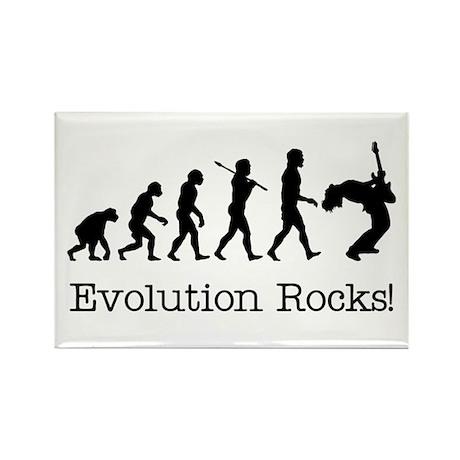 Evolution Rocks Rectangle Magnet