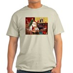 Santa's Corgi (#3P) Light T-Shirt