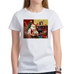 Santa's Corgi (#3P) Women's T-Shirt