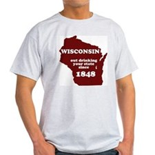 Wisconsin Outdrinking Your St T-Shirt