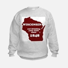 Wisconsin Outdrinking Your St Sweatshirt