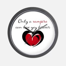 Only a Vampire Heart Wall Clock