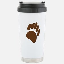 BROWN BEAR PAW Stainless Steel Travel Mug