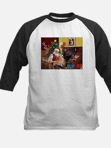 Santa's Welsh Corgi (7b) Kids Baseball Jersey