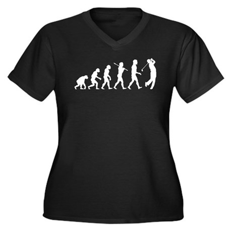 Golfer Women's Plus Size V-Neck Dark T-Shirt