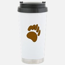 MOSAIC BROWN BEAR PAW Stainless Steel Travel Mug
