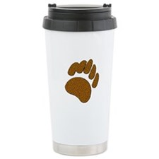 MOSAIC BROWN BEAR PAW Travel Mug