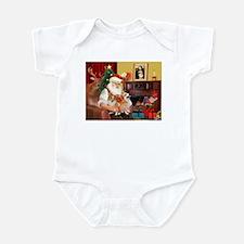 Santa's 2 Corgis (P2) Infant Bodysuit