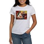 Santa's 2 Corgis (P2) Women's T-Shirt