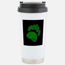 DARK GREEN/BLK BEAR PAW Stainless Steel Travel Mug