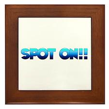 Spot On Framed Tile