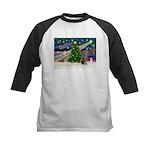 XmasMagic/Weimaraner 2 Kids Baseball Jersey
