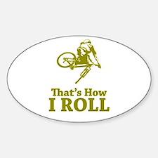Biker Oval Decal