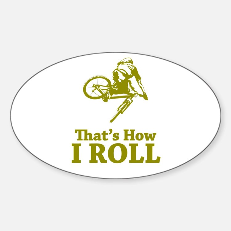 Biker Oval Decal