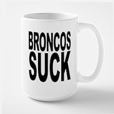Broncos Suck Large Mug