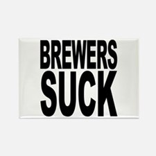 Brewers Suck Rectangle Magnet
