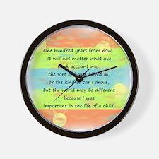 100 Years Wall Clock