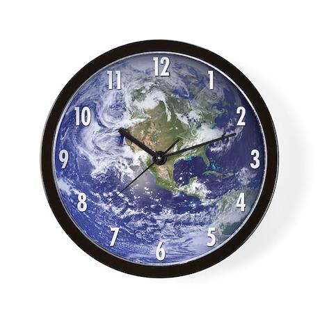 Earth (#s) Wall Clock
