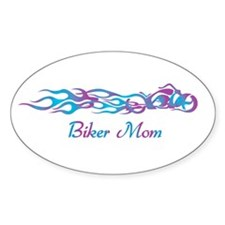 Biker Mom Oval Decal