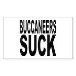 Buccaneers Suck Rectangle Sticker 10 pk)
