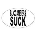 Buccaneers Suck Oval Sticker (10 pk)