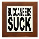 Buccaneers Suck Framed Tile