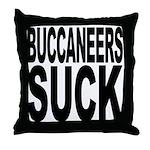 Buccaneers Suck Throw Pillow