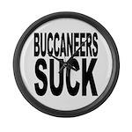 Buccaneers Suck Large Wall Clock