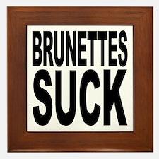 Brunettes Suck Framed Tile