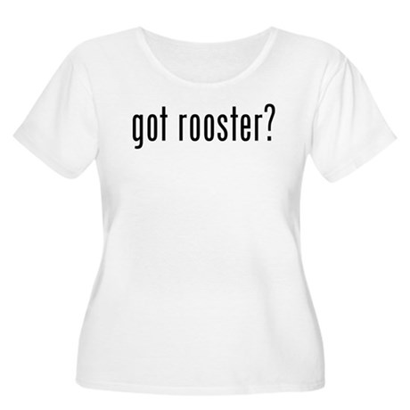 got rooster? Women's Plus Size Scoop Neck T-Shirt