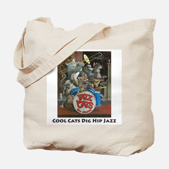 Cool Cats Dig Hip Jazz Tote Bag